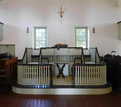 The interior of Barratt's Chapel